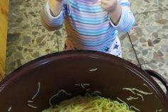 Naše pomocná kuchařka Terezka poctivě degustuje každé jídlo…
